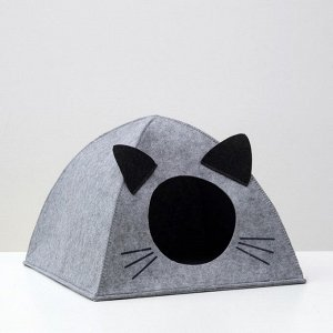 "Домик для животных из войлока ""Палатка ушастая"", 38 х 28 х 38 см"
