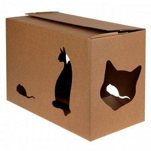 """Дом """"Домик+"""" для кошек 55 х 26 х 35 см"""