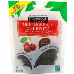 Stoneridge Orchards, вишни Монморанси, в темном шоколаде, 70% какао, 142 г (5 унций)