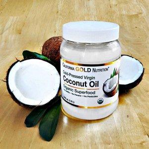 California Gold Nutrition, Органическое кокосовое масло первого холодного отжима, 1,6 л (54 жидк. унции)