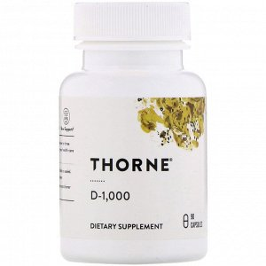 Thorne Research, D-1000, 90 капсул