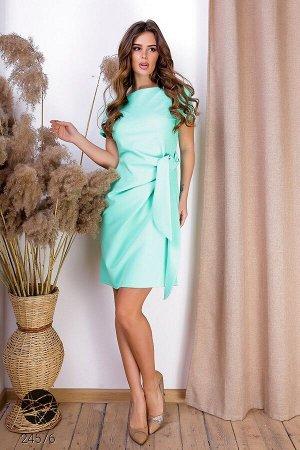 Платье с боковым поясом