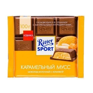 Шоколад Риттер Спорт Карамельный Мусс 100 г