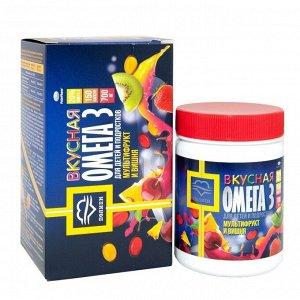 Омега-3 Вкусная со вкусом вишни и мультифрукта для детей 150 капс.