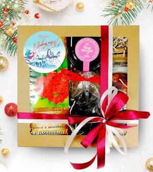 Подарочный набор С Новым годом и рождеством. Дед мороз на санях