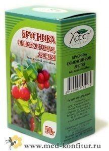 Брусника обыкновенная листья 50 гр.
