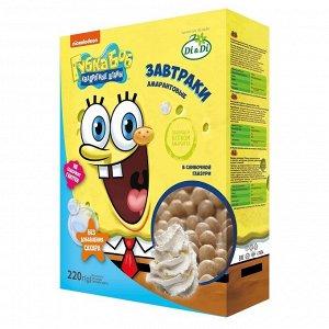 Завтраки амарантовые Губка Боб в сливочной глазури, витаминизированные без глютена 220 гр.