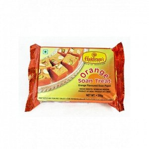Сладость Соан Папди с апельсином (Orange Soan Treat) Haldiram's 250 гр.