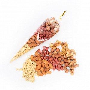 Ореховое ассорти: кедровый орех, миндаль, арахис, фундук, грецкий орех 150 гр.