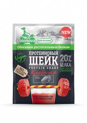 Протеиновый шейк Bionova с клубникой, 25 г.