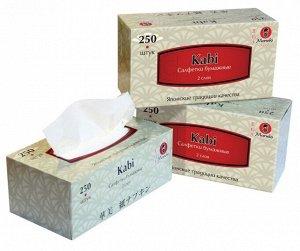 """Салфетки бумажные """"Maneki"""", серия Kabi, 2 слоя, 250 шт./коробка, спайка 3 шт"""