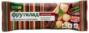 """Фрутилад """"Финиковый с фундуком и шоколадом"""" батончик из отборных фиников, 42г"""
