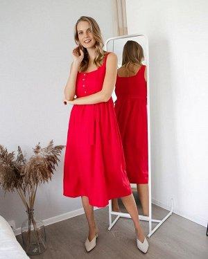 """Летнее платье-сарафан с пуговицами и поясом для беременных и кормления """"Даника"""""""