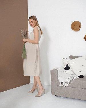 """Летнее платье с открытой спиной с поясом для беременных и кормления """"Шарлотта"""""""