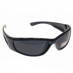 Стильные мужские очки Shawel в чёрной оправе с чёрными линзами.