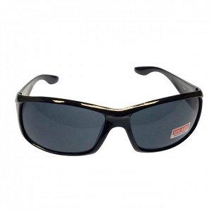 Стильные мужские очки Swer в чёрной оправе с чёрными линзами.