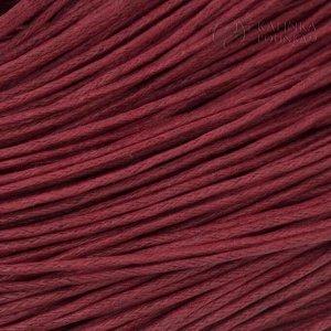 Шнур вощёный хлопковый, цвет вишнёвый, толщина 1мм, в пасме 72метра