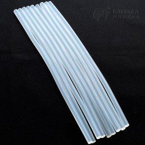 Клеевые стержни для термопистолета, полупрозрачные, сильной фиксации, не пахнут при нагреве, р-р 300х7мм., пр-во Малайзия.