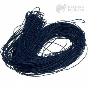Шнур вощёный хлопковый, цвет королевский синий, толщина 1 мм, в пасме 72метра