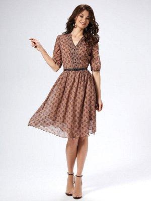 """Платье """"Платье 42-44-46\48-50-52, длина по спинке 106 см, длина рукава 35 см             -полуприлегающего силуэта, отрезное по линии талии, застегивающиеся на потайную тесьму-молния в боковом шве; -г"""