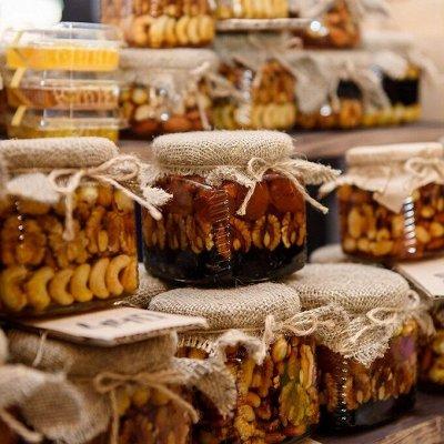 Крымские травы 💥 Кизил, полынь, мелиса и много других трав — Мед с орехами и семечками — Мед
