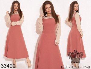 BALANI - Платье двойка пудрово-розовый