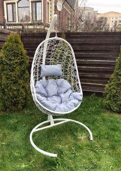 Кресло-качели подвесное Z-02 (6), цвет белый, подушка на выбор