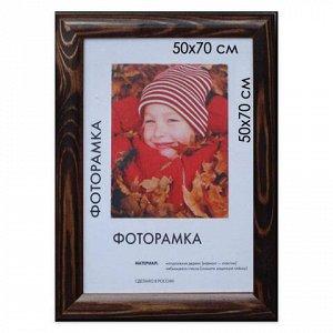 """Рамка премиум 50х70 см, дерево, багет 26 мм, """"Berta"""", темно-коричневая, 0006-50-0007"""