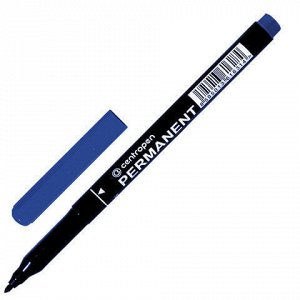 Маркер перманентный (нестираемый) CENTROPEN, СИНИЙ, трехгранный, круглый наконечник, 1 мм, 2536/1C