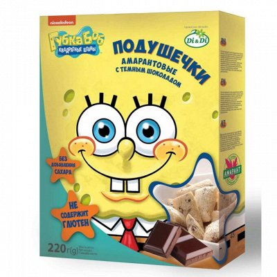 Умные сладости, Ешь ЗдорОво - 2 !!! — Подушечки, батончики, леденцы_ГУБКА БОБ — Каши, хлопья и сухие завтраки