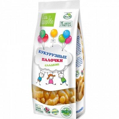 Умные сладости, Ешь ЗдорОво - 2 !!! — Палочки Кукурузные,чипсы Ешь Здорово — Каши, хлопья и сухие завтраки