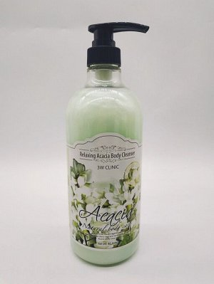 Гель для душа расслабляющий с ароматом Акации 3W Clinic Acacia Relaxing Body Cleanser