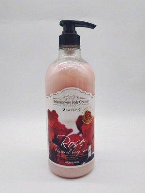Гель для душа расслабляющий с ароматом Розы3W Clinic Rose Relaxing Body Cleanser