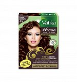 DABUR VATIKA NATURALS / Краска для волос на основе натуральной хны (Темно-коричневый) 60г.