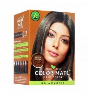 9.2 Краска для волос ColorMate на основе натуральной хны натуральный черныйцвет 75 г