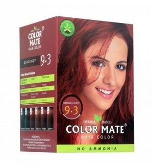 9.3 Краска для волос ColorMate на основе натуральной хны бордовый цвет 75 г