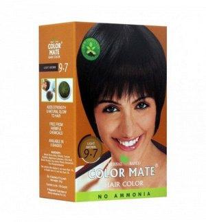 9.7 Краска для волос ColorMate на основе натуральной хны светло-коричневый цвет 75 г