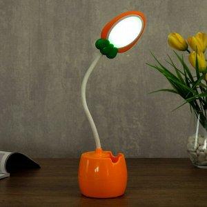 Лампа настольная 23775/1 LED 4Вт USB АКБ оранжевый 6х7.2х34 см