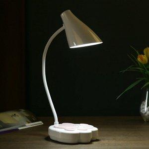 Лампа настольная сенсорная 69450/1 LED 7Вт 3 режима USB АКБ белый-розовый 12х11.5х42 см