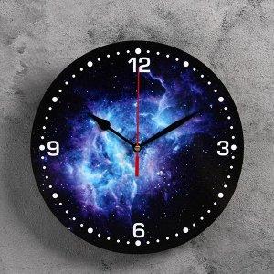 """Часы настенные, серия: Интерьер, """"Космос"""", 24  см, микс  стрелки"""