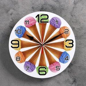 """Часы настенные, серия: Кухня, """"12 рожков """", 24  см, микс"""