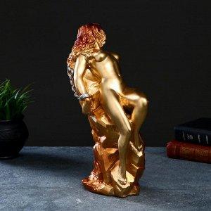 "Фигура ""Ева на скале"" золото, 34,5х12,5х17см"