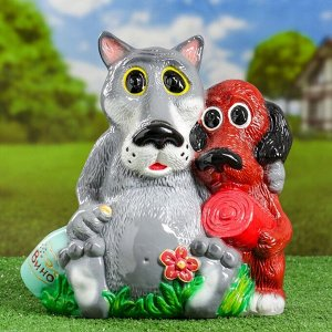 "Садовая фигура ""Волк и пёс"" №3, 35х35см"