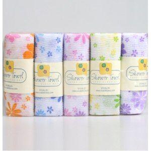 Мочалка-полотенце для душа Цветочек