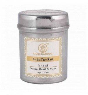 """Khadi Neem Basil & Mint Face Mask / Кхади Маска для лица """"Ним, Базилик и Мята"""" 50г"""