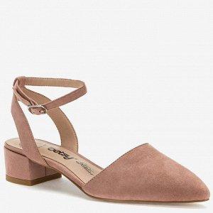 907007/01-01 розовый иск.замша женские туфли открытые