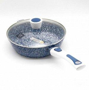 Сковорода с крышкой (каменное покрытие)