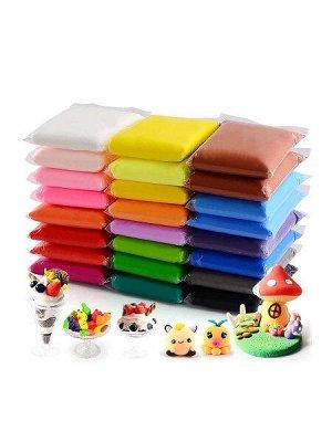 Легкий пластилин самозатвердевающий 24 цвета