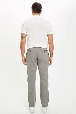 брюки Размеры модели: рост: 1,89 грудь: 100 талия: 81 бедра: 97 Надет размер: размер 32 - рост 32  Хлопок 50%,Keten 50%