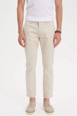 брюки Размеры модели: рост: 1,89 грудь: 100 талия: 74 бедра: 97 Надет размер: размер 30 - рост 30 Elastan 2%, Хлопок 98%